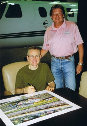 Mark Martin Signing the 'NASCAR NEXTEL All-Star Challenge 2005' print series
